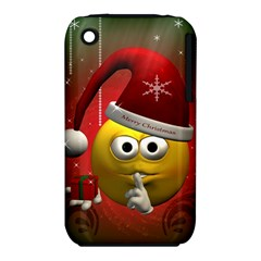 Funny Christmas Smiley Apple iPhone 3G/3GS Hardshell Case (PC+Silicone)