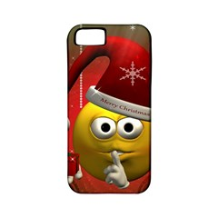 Funny Christmas Smiley Apple iPhone 5 Classic Hardshell Case (PC+Silicone)