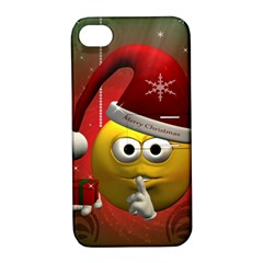 Funny Christmas Smiley Apple iPhone 4/4S Hardshell Case with Stand
