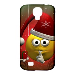 Funny Christmas Smiley Samsung Galaxy S4 Classic Hardshell Case (PC+Silicone)