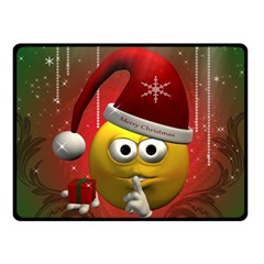 Funny Christmas Smiley Double Sided Fleece Blanket (Small)