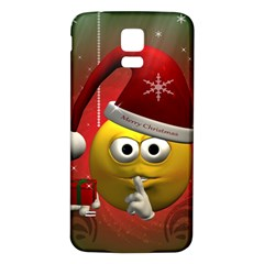 Funny Christmas Smiley Samsung Galaxy S5 Back Case (White)