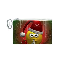 Funny Christmas Smiley Canvas Cosmetic Bag (S)