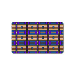 Rectangles and stripes pattern Magnet (Name Card)