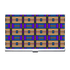 Rectangles and stripes pattern Business Card Holder