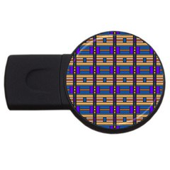 Rectangles and stripes pattern USB Flash Drive Round (1 GB)