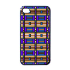 Rectangles and stripes pattern Apple iPhone 4 Case (Black)
