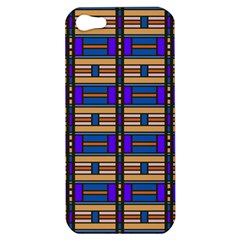 Rectangles and stripes pattern Apple iPhone 5 Hardshell Case