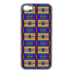 Rectangles and stripes pattern Apple iPhone 5 Case (Silver)