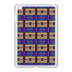 Rectangles and stripes pattern Apple iPad Mini Case (White)