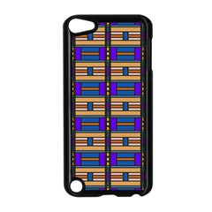 Rectangles and stripes pattern Apple iPod Touch 5 Case (Black)