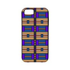 Rectangles and stripes pattern Apple iPhone 5 Classic Hardshell Case (PC+Silicone)
