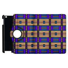 Rectangles and stripes pattern Apple iPad 3/4 Flip 360 Case