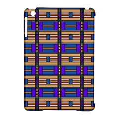 Rectangles and stripes pattern Apple iPad Mini Hardshell Case (Compatible with Smart Cover)