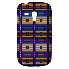 Rectangles and stripes pattern Samsung Galaxy S3 MINI I8190 Hardshell Case