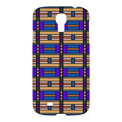 Rectangles and stripes pattern Samsung Galaxy S4 I9500/I9505 Hardshell Case