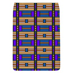 Rectangles and stripes pattern Removable Flap Cover (S)