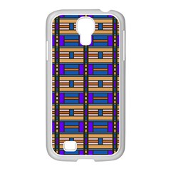 Rectangles and stripes pattern Samsung GALAXY S4 I9500/ I9505 Case (White)