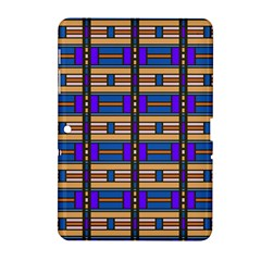 Rectangles and stripes pattern Samsung Galaxy Tab 2 (10.1 ) P5100 Hardshell Case