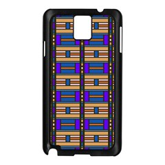 Rectangles and stripes pattern Samsung Galaxy Note 3 N9005 Case (Black)