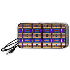 Rectangles and stripes pattern Portable Speaker