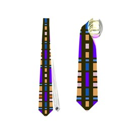 Rectangles and stripes pattern Necktie
