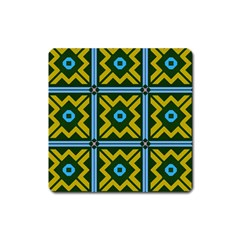 Rhombus in squares pattern Magnet (Square)