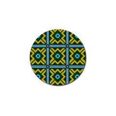 Rhombus in squares pattern Golf Ball Marker