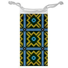 Rhombus in squares pattern Jewelry Bag