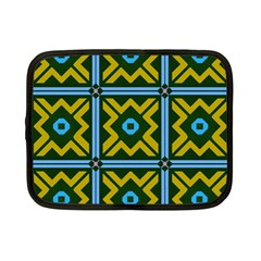 Rhombus in squares pattern Netbook Case (Small)