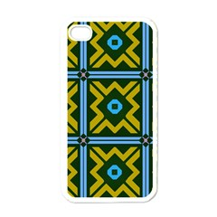 Rhombus in squares pattern Apple iPhone 4 Case (White)