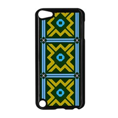 Rhombus in squares pattern Apple iPod Touch 5 Case (Black)