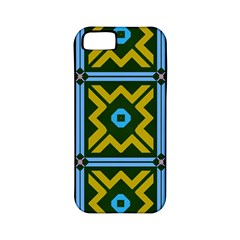 Rhombus in squares pattern Apple iPhone 5 Classic Hardshell Case (PC+Silicone)