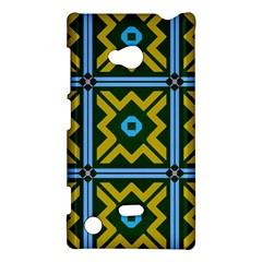 Rhombus in squares pattern Nokia Lumia 720 Hardshell Case