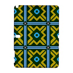 Rhombus in squares pattern Samsung Galaxy Note 10.1 (P600) Hardshell Case