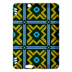 Rhombus in squares pattern Kindle Fire HDX Hardshell Case
