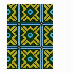 Rhombus in squares pattern Small Garden Flag