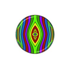 Colorful symmetric shapes Hat Clip Ball Marker (4 pack)