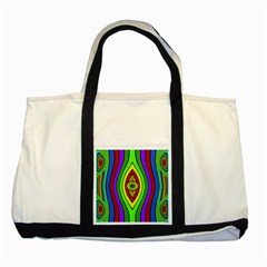 Colorful symmetric shapes Two Tone Tote Bag