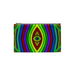 Colorful symmetric shapes Cosmetic Bag (Small)