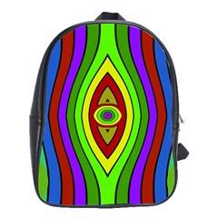 Colorful symmetric shapes School Bag (Large)
