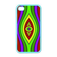 Colorful symmetric shapes Apple iPhone 4 Case (Color)