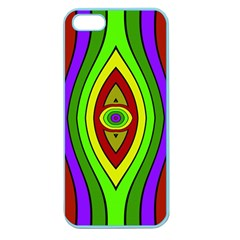 Colorful symmetric shapes Apple Seamless iPhone 5 Case (Color)