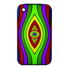 Colorful symmetric shapes Apple iPhone 3G/3GS Hardshell Case (PC+Silicone)