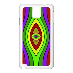 Colorful symmetric shapes Samsung Galaxy Note 3 N9005 Case (White)