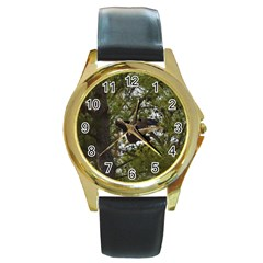 Bald Eagle Round Gold Metal Watches