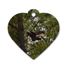 Bald Eagle Dog Tag Heart (One Side)