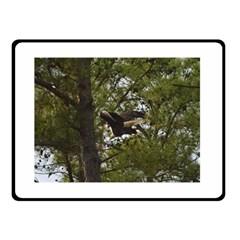 Bald Eagle Double Sided Fleece Blanket (Small)