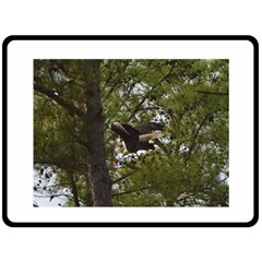 Bald Eagle Double Sided Fleece Blanket (Large)