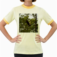 Bald Eagle 2 Women s Fitted Ringer T Shirts